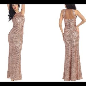 Stunning Rose Gold Sequin Dress!!